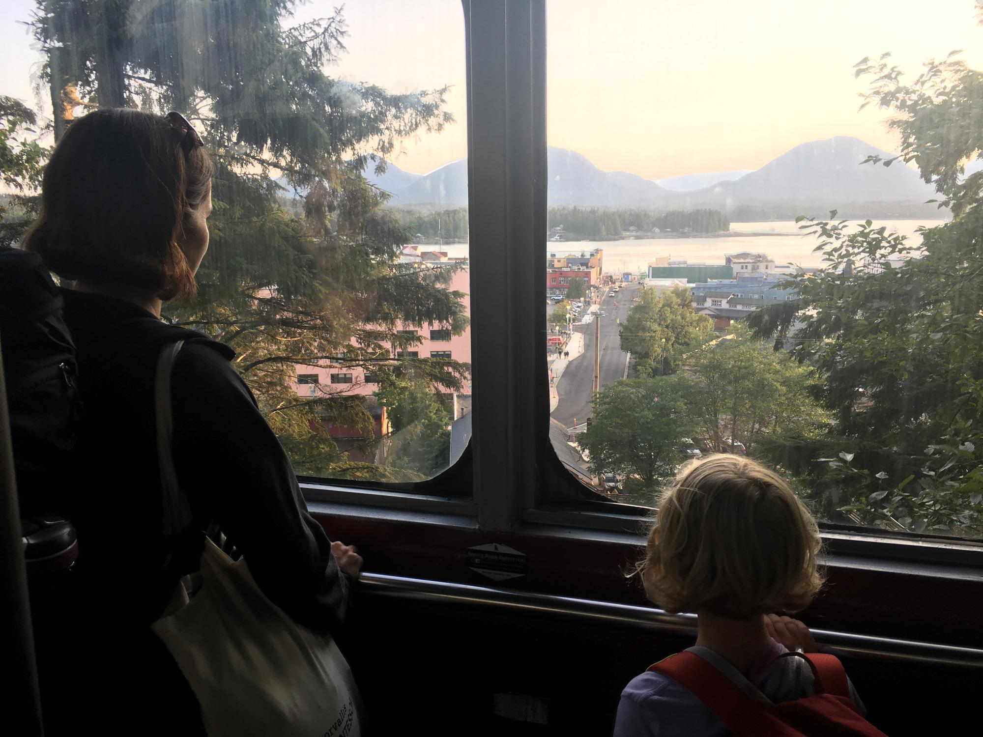 Katie and Emma in the Funicular
